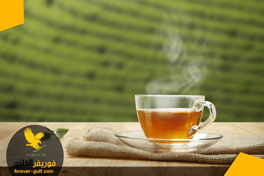تناول الشاي الأخضر